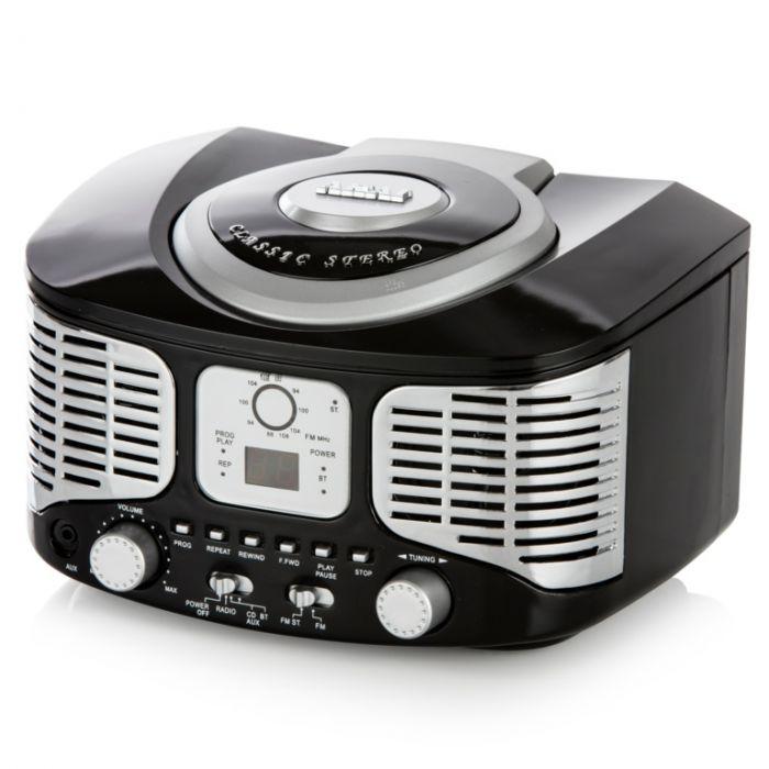 Akai Retro Bluetooth Cd Boombox Black