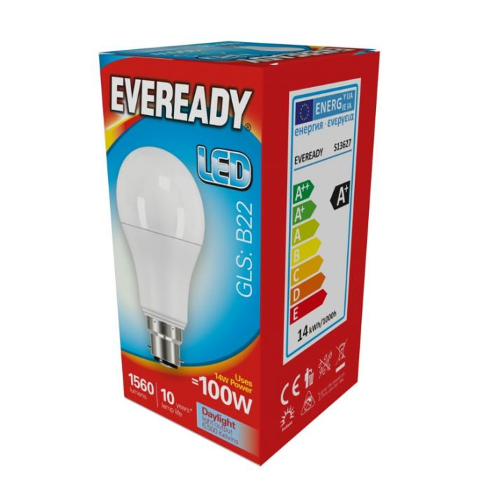 Eveready Led Gls 14W 1560Lm Daylight 6500K B22