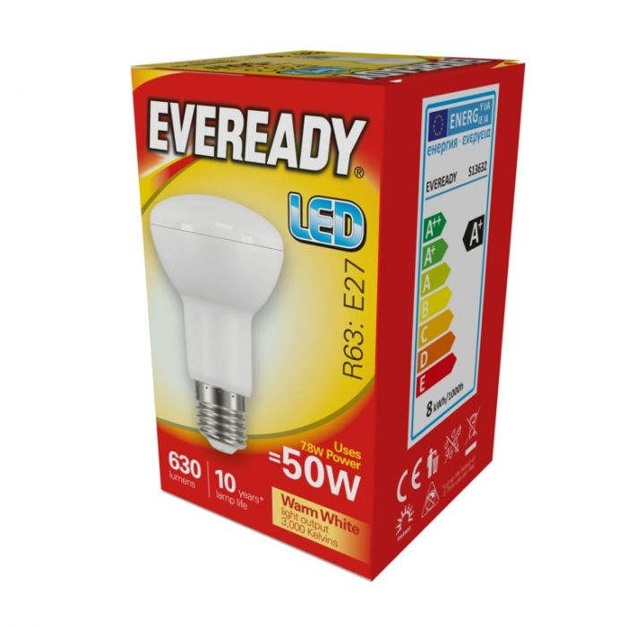 Eveready Led R63 7.8W 806Lm Warm White 3000K E27