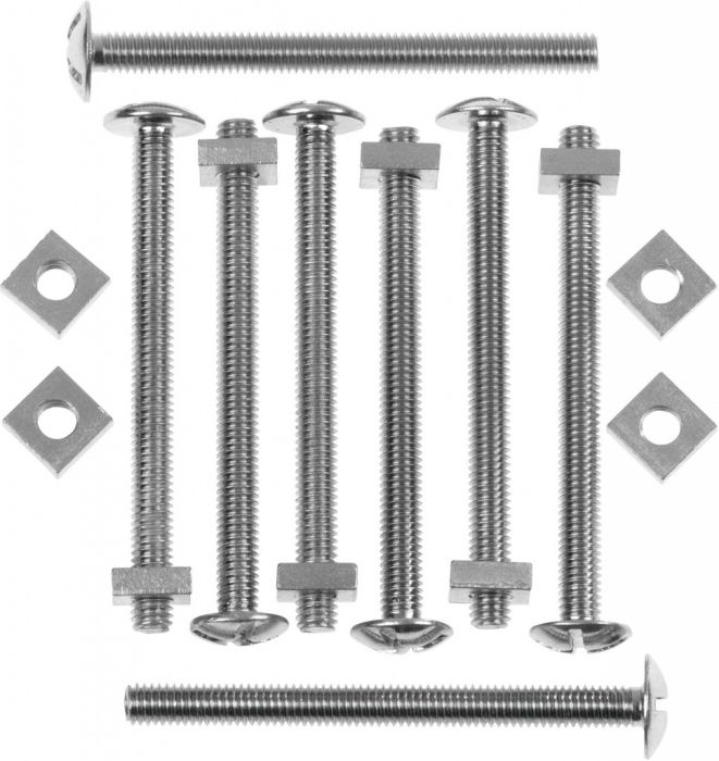 Picardy Zinc Plated Roofing Bolts With Nuts M6x60mm Box 100