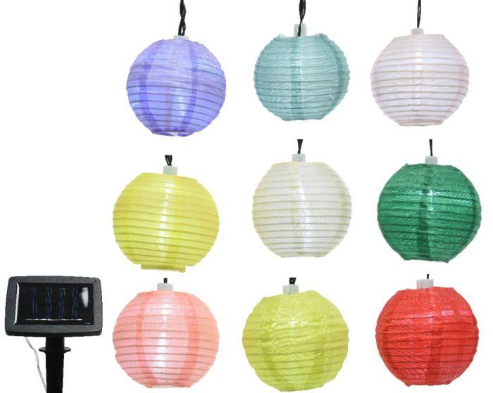 Lumineo Led Chinese Lantern String - 8 Lights 3.5M - Cool White