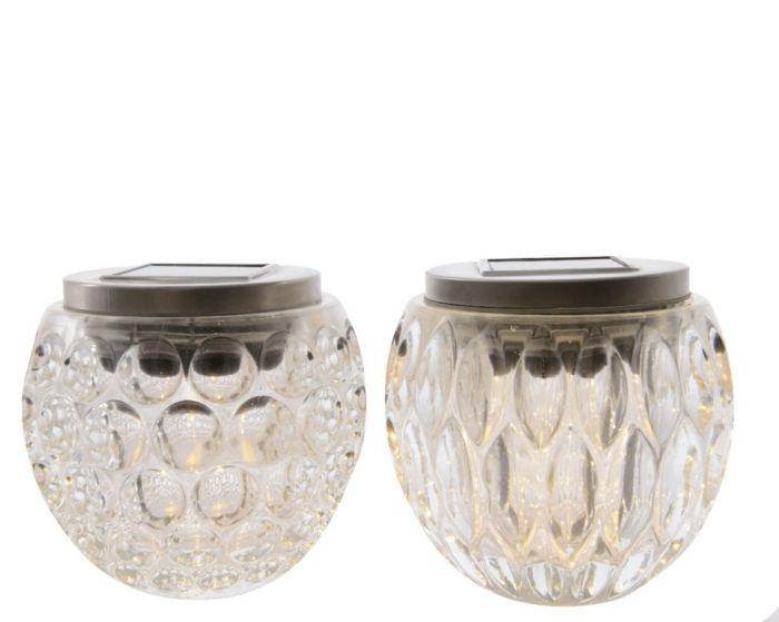 Lumineo Led Solar Glass Table Light Warm White 1 Light 10Cm