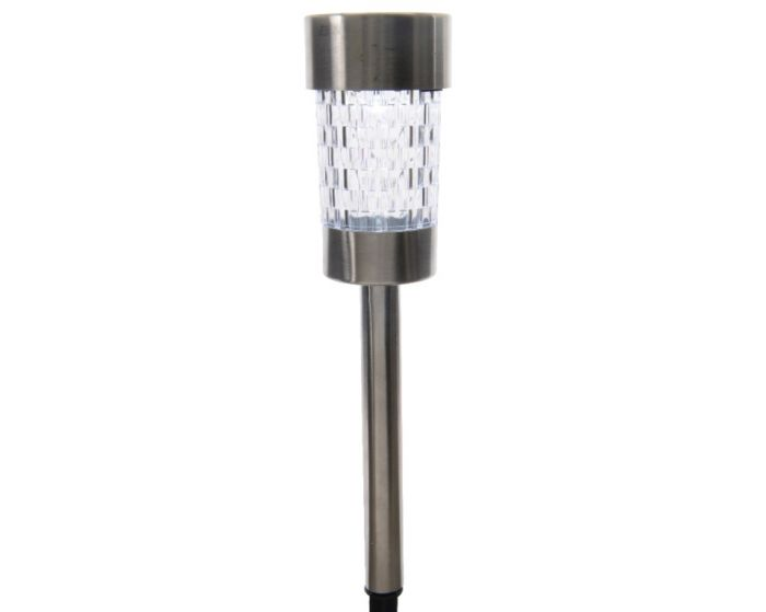 Lumineo Led Solar Stainless Steel Garden Light Cool White