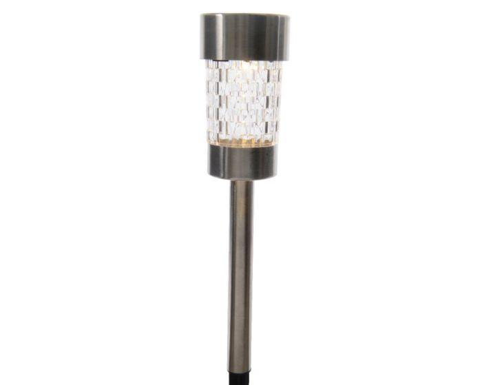 Lumineo Led Solar Stainless Steel Garden Light 6.2X26cm - Warm White