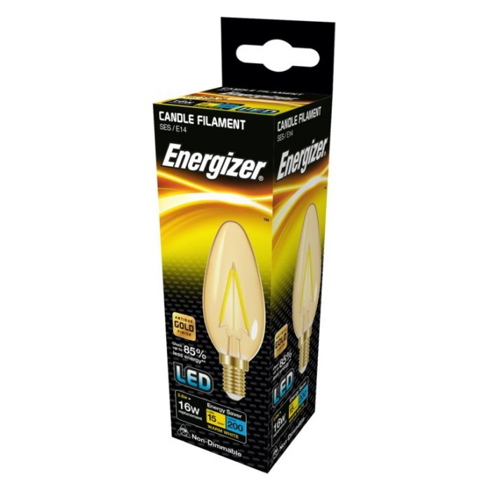 Energizer Filament Led Lamps E14 150Lm 2.6W