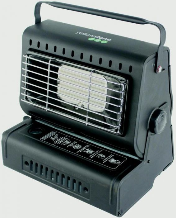 Yellowstone Portable Gas Heater Black
