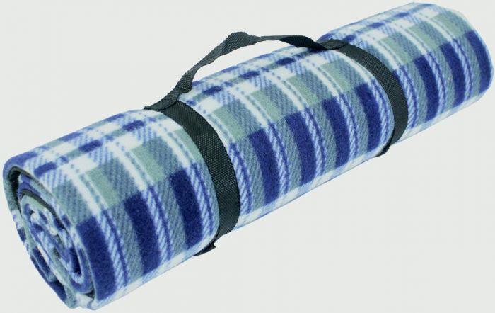 Yellowstone Fleece Picnic Rug Blue Tartan