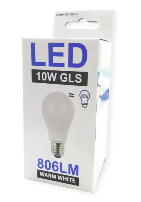 Lyveco 10 Watt Led Gls Lamp Es 806 Lumens Warm White