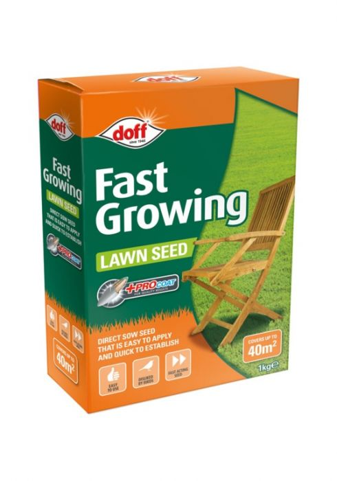 Doff Fast Acting Lawn Seed With Procoat 1Kg