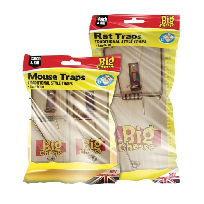 The Big Cheese Wooden Mouse Trap 4 Pack