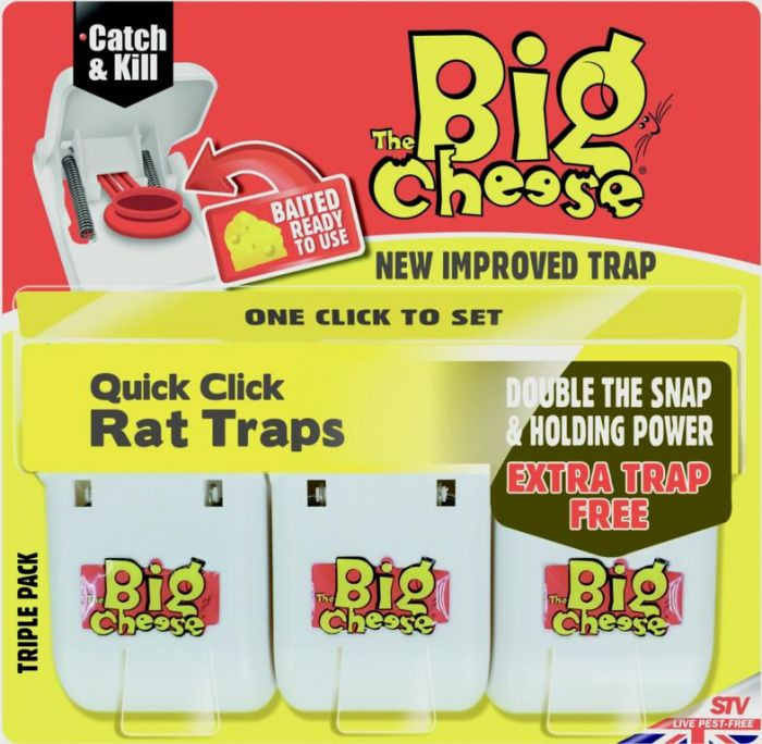 The Big Cheese Quick Click Rat Traps 3 Pack