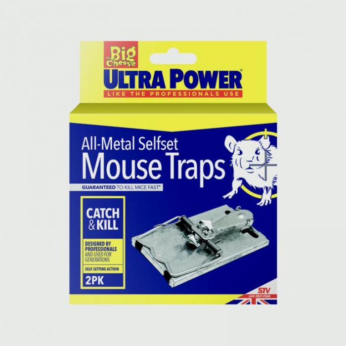 Ultra Power All Metal Self Set Mouse Trap Twin Pack