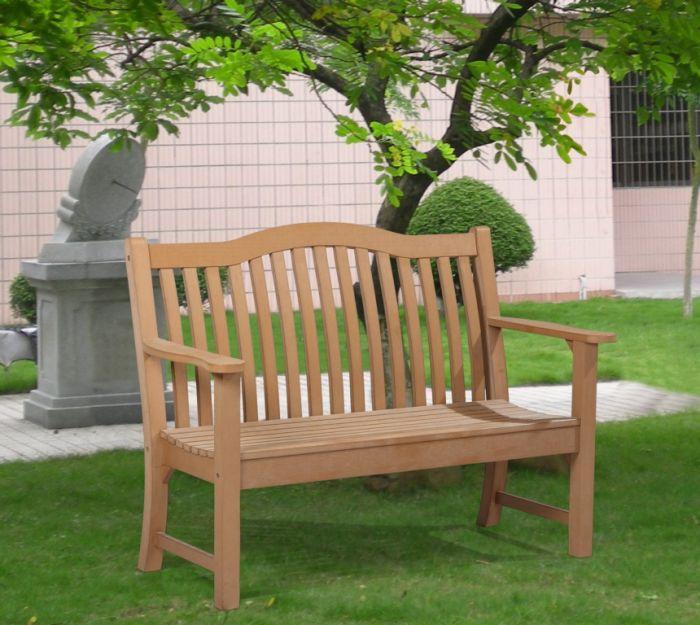 Winawood Netherley Thin Slat Teak Effect Bench 2 Seat