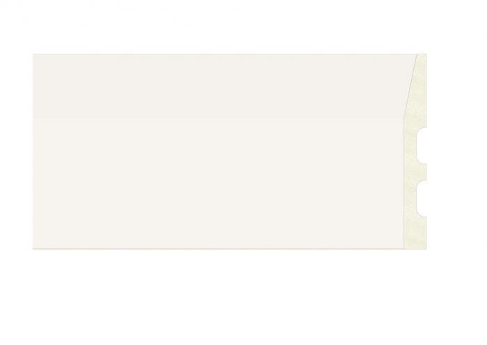 Emafyl White Chamfored Skirting Board 119Mm X 2.9M