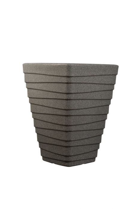 Sankey Tall Square Trojan Planter 40Cm Granite
