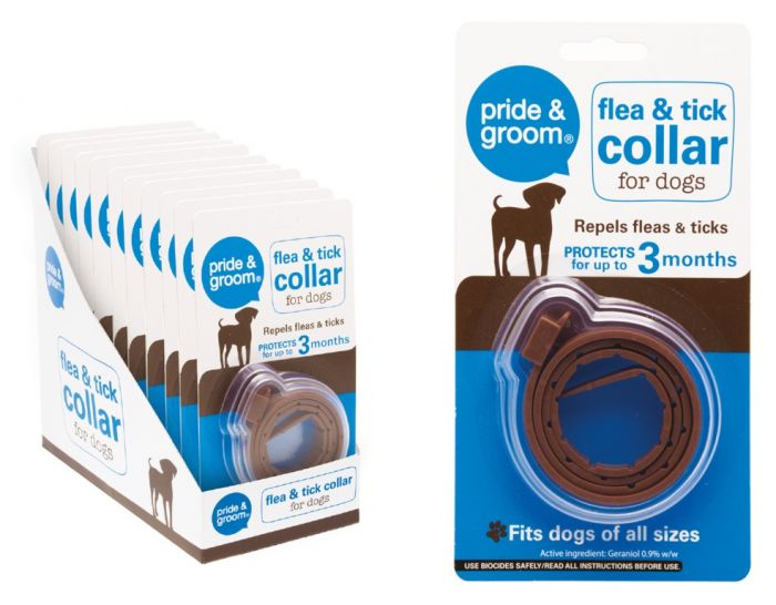 Pride & Groom Flea & Tick Collar For Dogs
