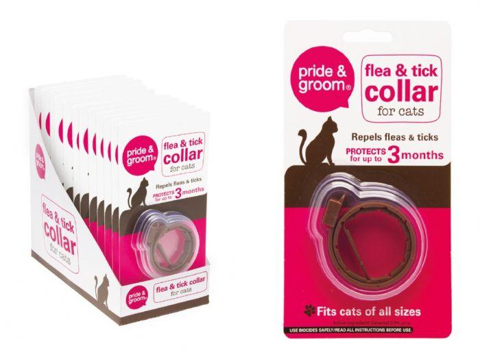 Pride & Groom Flea & Tick Collar For Cats