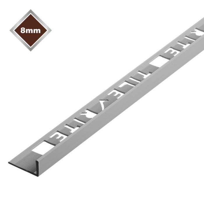 Tile Rite 8Mm L Profile Pvc Tile Trim Grey