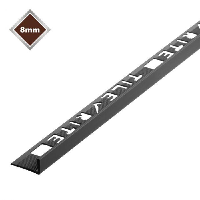 Tile Rite 8Mm L Profile Pvc Tile Trim Black