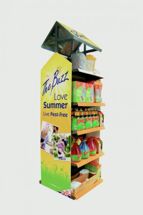 The Buzz Double Sided Fill Outdoor Insect Control Display Unit