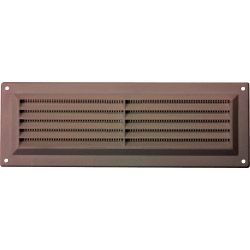 Map Brown Louvred Vent (With Fixed Flyscreen) Opening Size: 9 X 3 - 229 X 76Mm