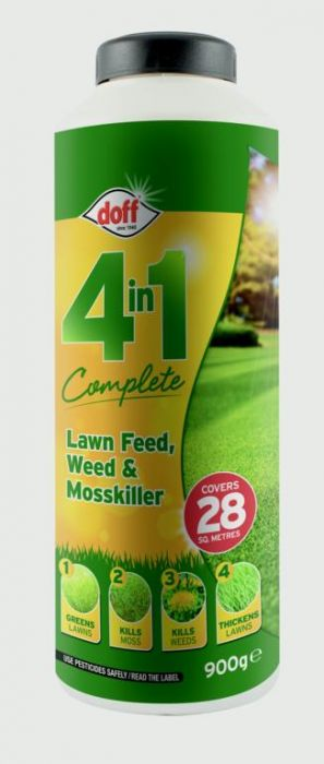 Doff 4 In 1 Complete Lawn Feed Weed & Mosskiller 1Kg