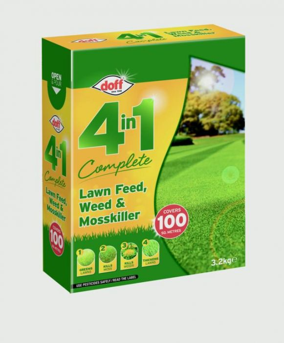 Doff 4 In 1 Complete Lawn Feed Weed & Mosskiller 3.5Kg