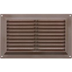 Map Brown Louvred Vent (With Fixed Flyscreen) Opening Size: 9 X 6 - 229 X 152Mm