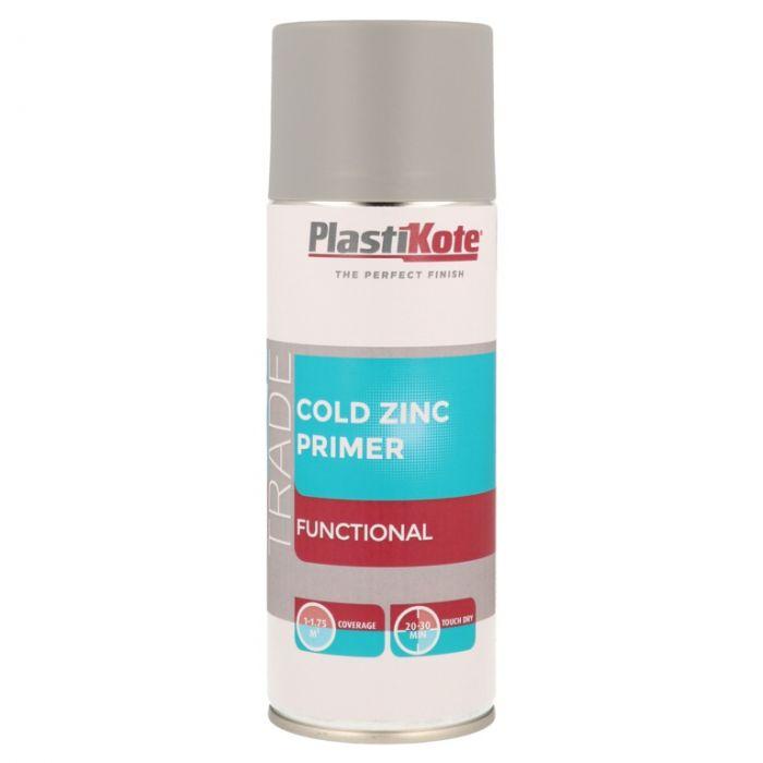 Plastikote Cold Zinc Primer Spray 400Ml