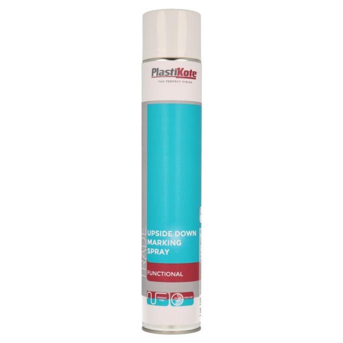 Plastikote Upside Down Marking Spray 750Ml White