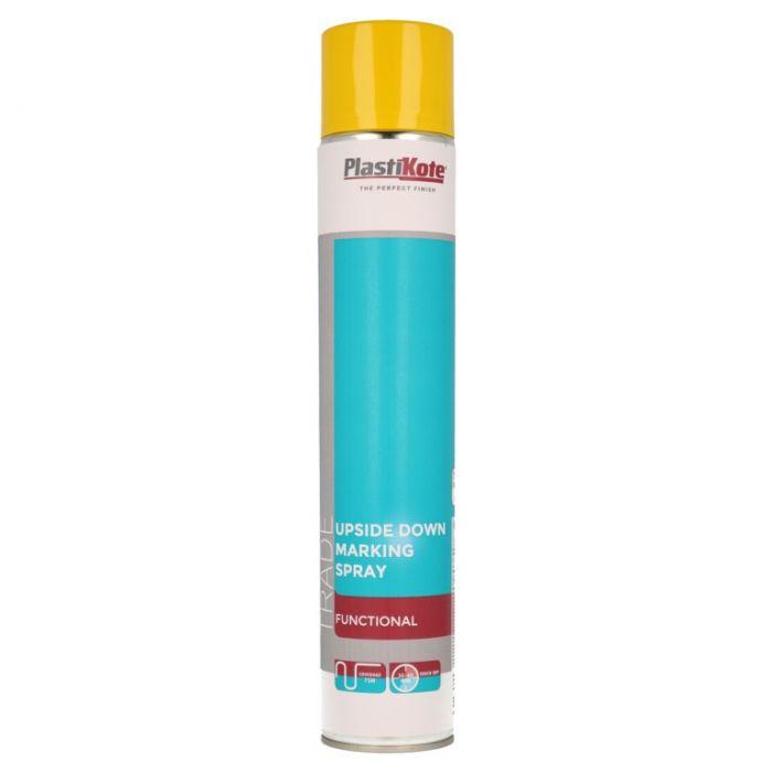 Plastikote Upside Down Marking Spray 750Ml Yellow