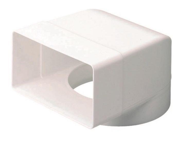 Make 90 Deg. Bend Round M To Rectangle F 100-110X54mm