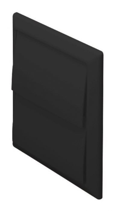 Make Outlet With Gravity Flaps Black 100Mm