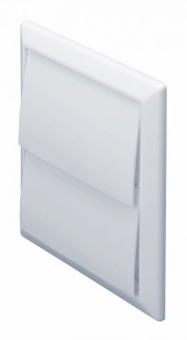Make Outlet With Gravity Flaps White 100Mm