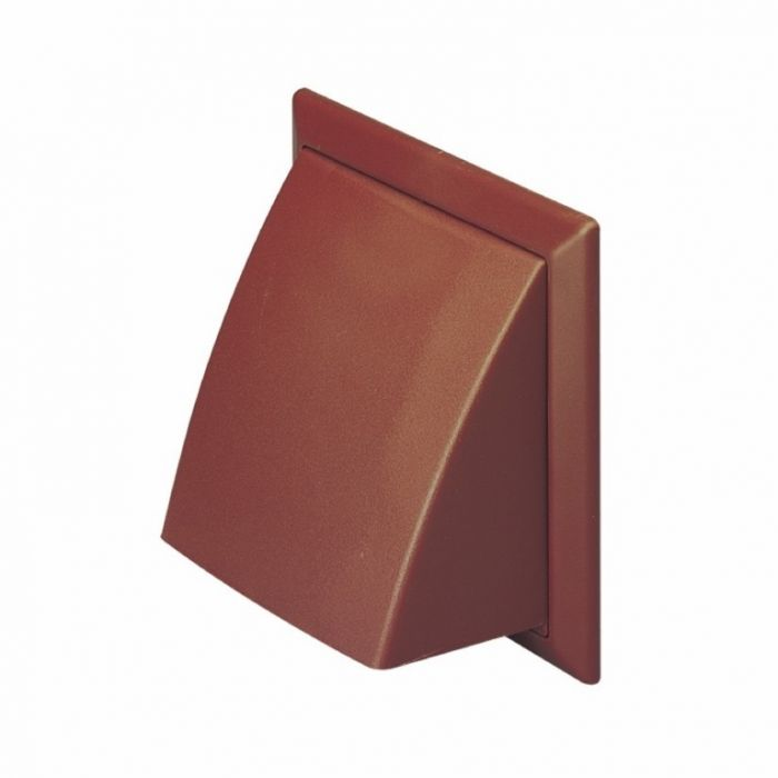 Make Cowled Outlet Brown 100Mm