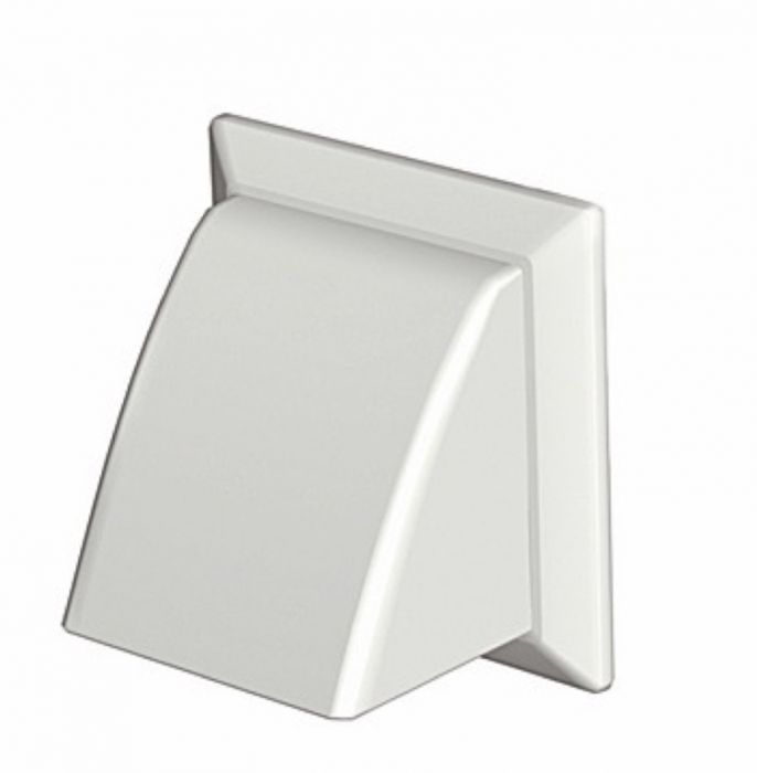 Make Cowled Outlet White 100Mm