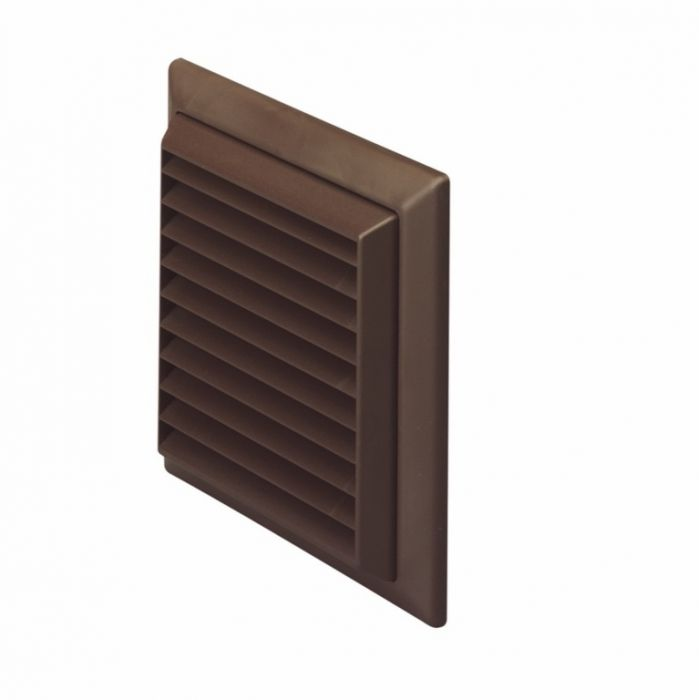 Make Louvered Grille Outlet Brown 100Mm