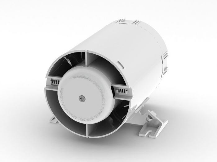 Domus Ventilation Shower Inline With Timer & Ducting 100Mm