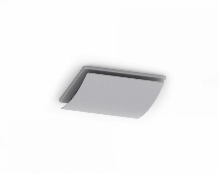 Domus Ventilation Domus Sapphire Axial Fan Fascia Curved Silver Effect