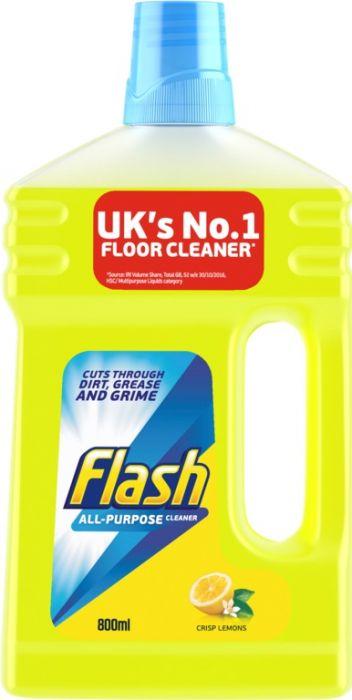 Flash Floor Cleaner 800Ml Crisp Lemons