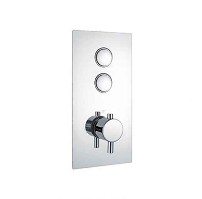 Niagra Equate Round Concealed Valve Twin Push