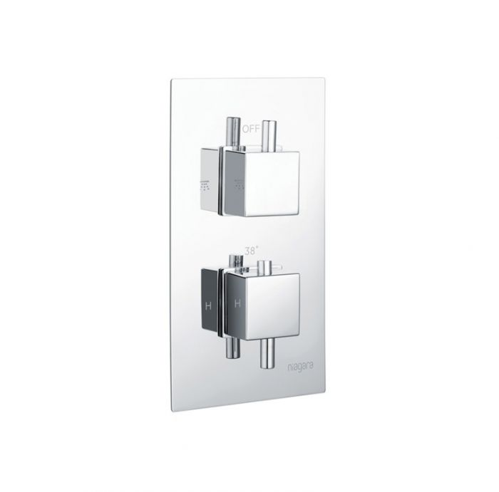 Niagra Observa Square Concealed Valve Twin