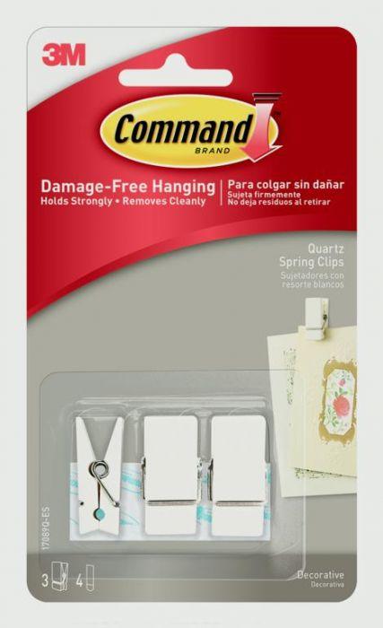 Command Small Spring Clip White
