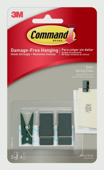 Command Small Spring Clip Slate