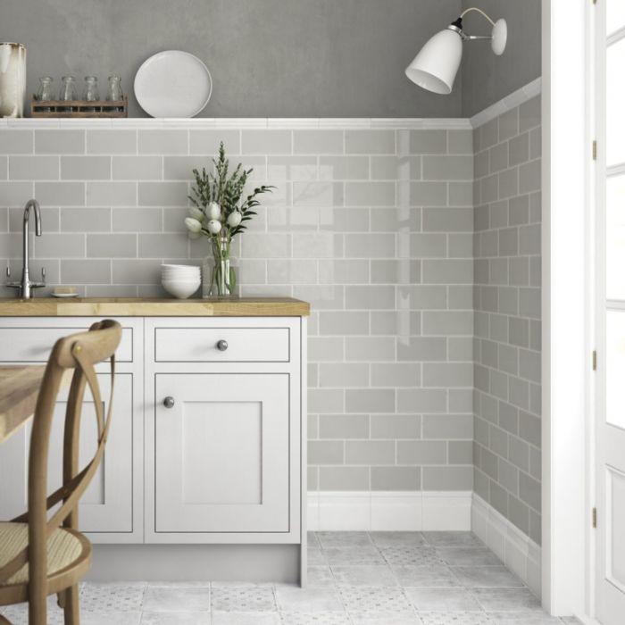 Johnson Tiles Gloss Wall Tiles 200 X 100Mm 1M2 Dew Gloss
