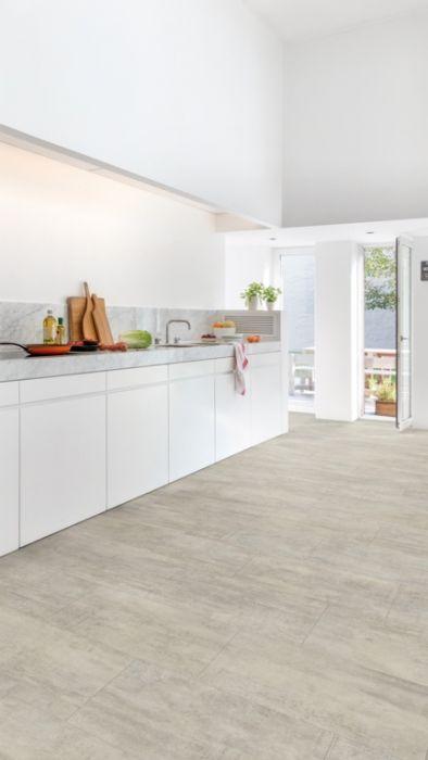 Quickstep Light Grey Travertine Tile 2.08M2 1300 X 320 X 4.5Mm Plank Size