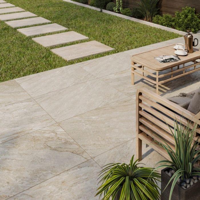 Verona Barrington Beige Outdoor Porcelain Tile 600 X 900 X 20Mm 1.08M2