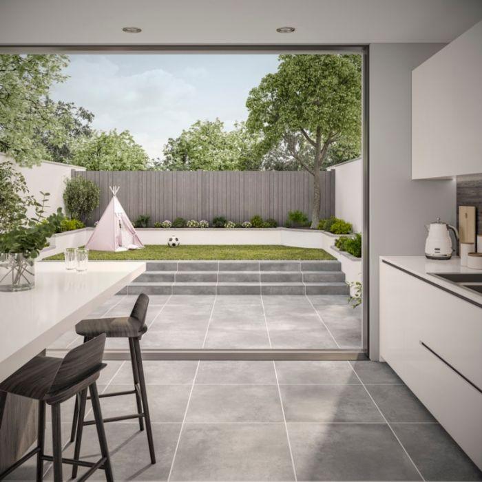 Verona Tatton Grey Outdoor Tile 600 X 600 X 20Mm 0.72M2