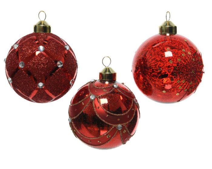 Glass Bauble Bead Decoration