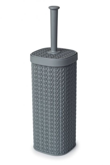 Blue Canyon Lace Design Toilet Brush Grey